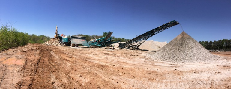 Concrete Recycling at Lee's Mill