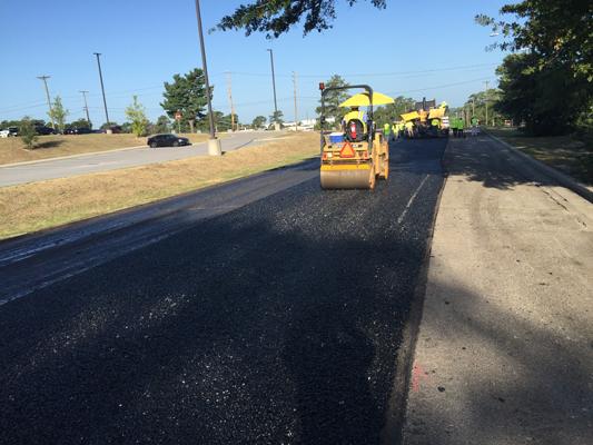 Asphalt pavement at    Ft Jackson, SC